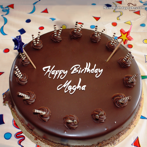I have written megha Name on Cakes and Wishes on this birthday wish