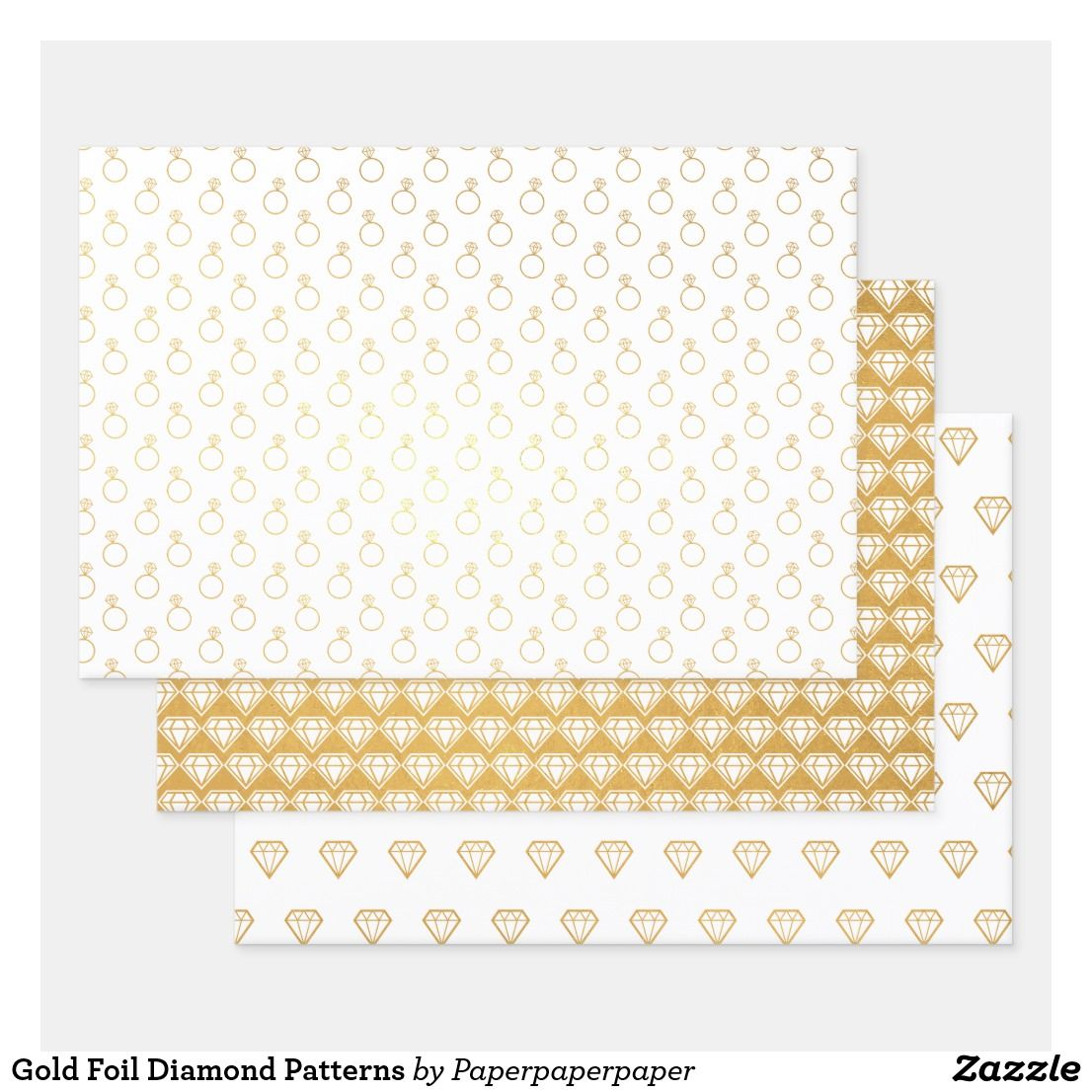 Gold Foil Diamond Patterns Foil Wrapping Paper Sheets Zazzle Com Wrapping Paper Sheets Wrapping Paper Creative Gift Wrapping