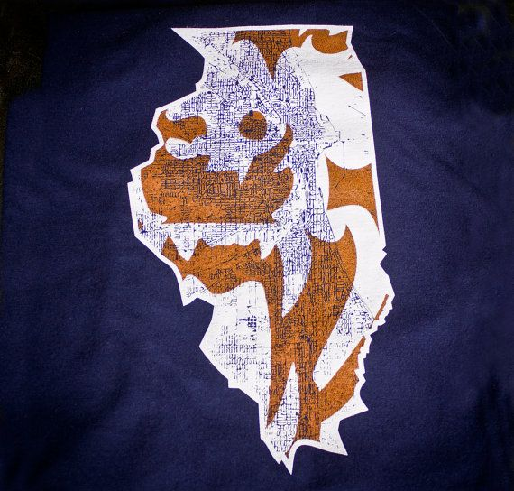 Chicago Bears Chicago Illinois map tshirt Awesome by watatees, $14.99