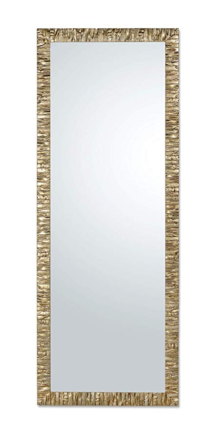 Miroir Mural Moderne Dore Avec Cadre En Bois Finition Champagne