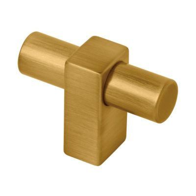 Brushed Brass Modern Cabinet Handle Pull Furniture Door T Bar Knobs And Pull  Handles Golden   Single Hole