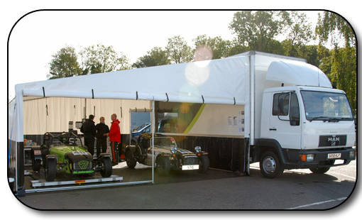 Race Truck With Large Awning Marquee