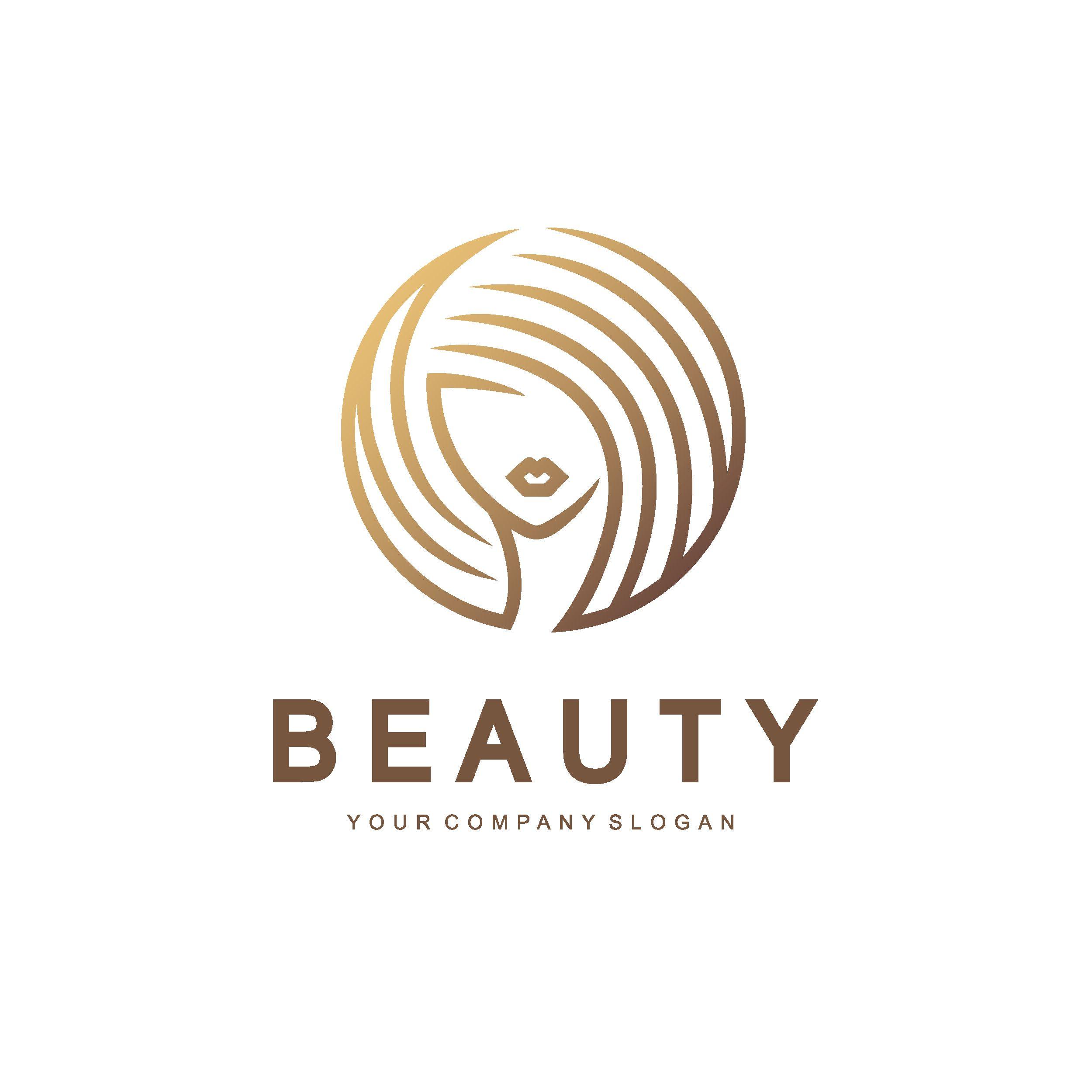 vector logo design beauty salon