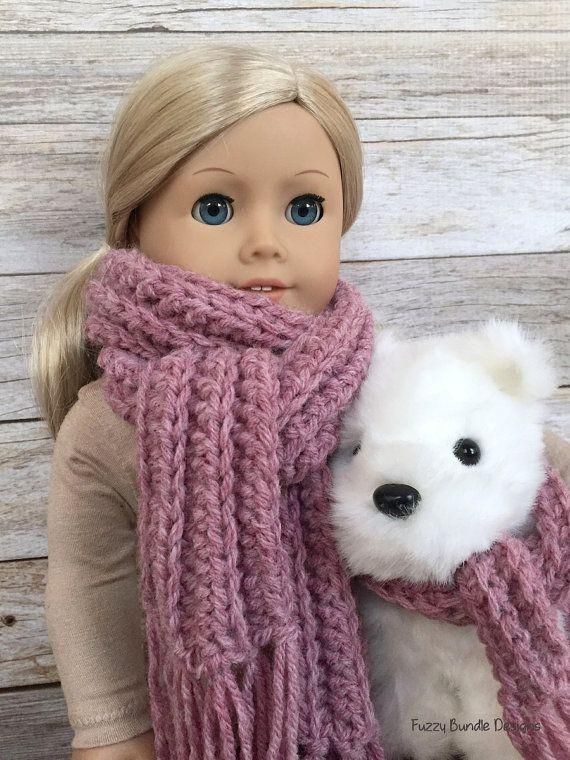 DIY Crochet Pattern – 18 inch Doll Fringe Scarf and Pet Collar ...