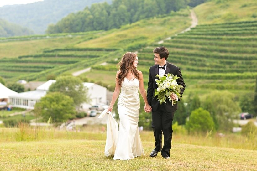 Bride in @willowbywatters Cora gown. Virginia Wedding Photographer - Delfosse Winery Vineyard_0043