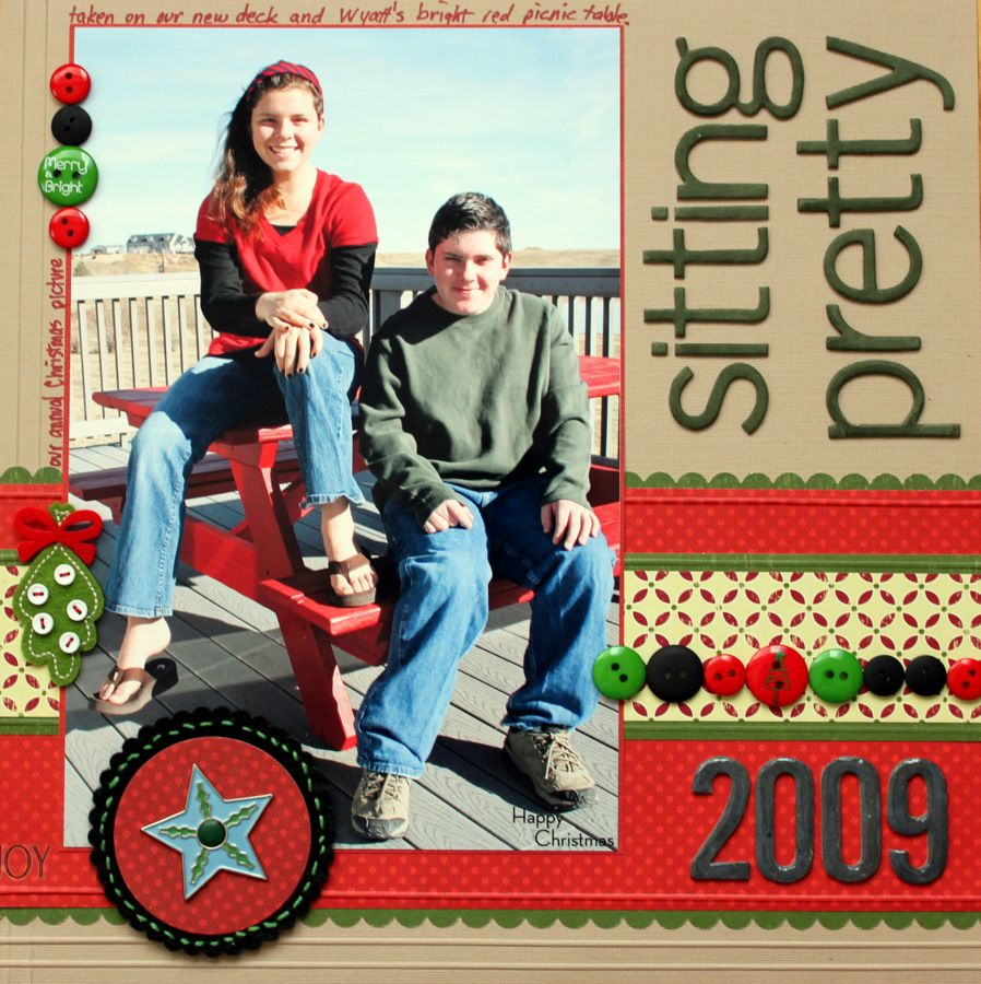 Sitting Pretty-New Years 2010 Challenge #2 - Scrapjazz.com