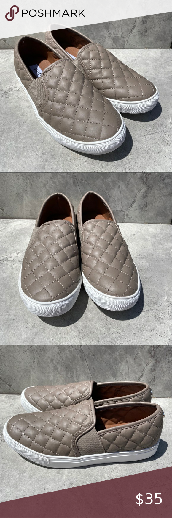 EUC Steve Madden Quilted Loafers