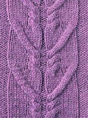 Узор из кос, вязаный спицами http://www.shpulya.com/uzory/uzory-s ...