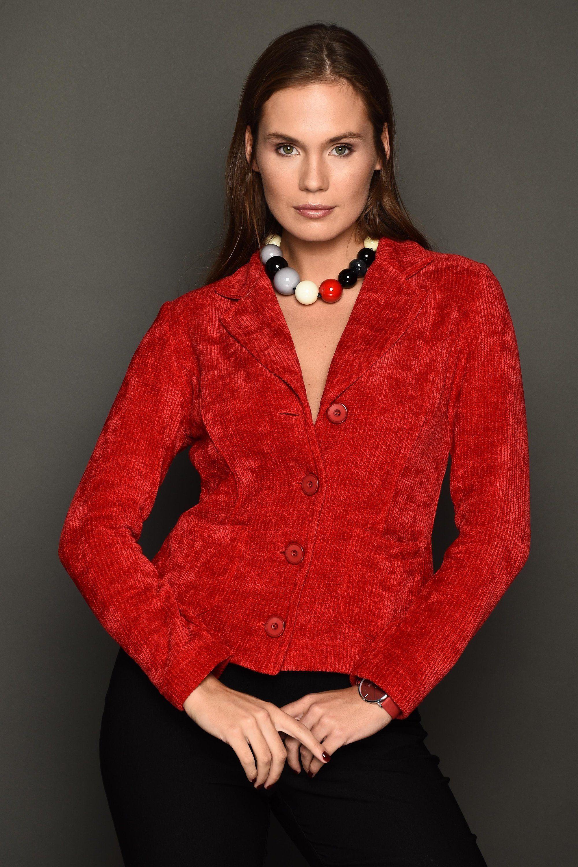 Women jacket red jacket designer jacket blazer for women fitted