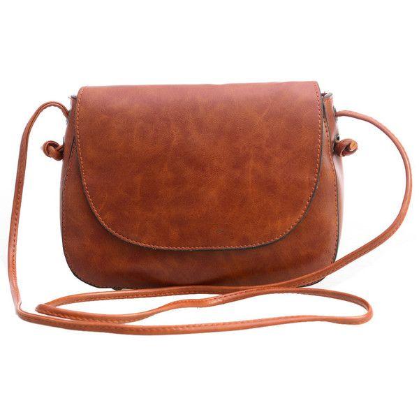 Magnetic Closure Saddle Bag 13 Bam Via Polyvore Featuring Bags Handbags Vegan Leather Purses Brown Faux