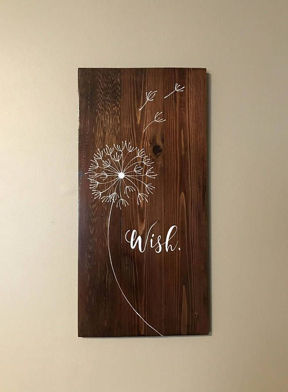Wish Reclaimed Wood Hand Painted Sign Kids Bedroom Decor Home Beauteous Hand Painted Wood Signs Home Decor