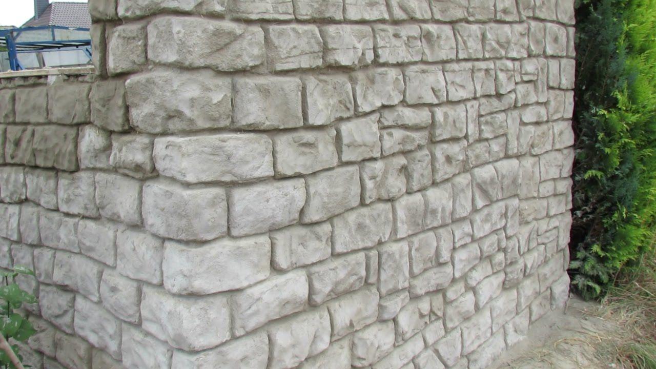 Mauer Aus Beton In Steinoptik Selber Verkleiden Gartenmauern Steinoptik Gartengestaltung