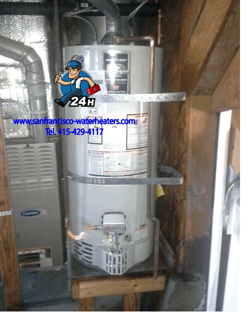 75 Gallon Natural Gas Water Heater Replacement San Francisco Bernal Heights Natural Gas Water Heater Radiant Floor Heating Water Heater