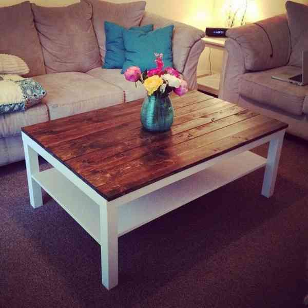 Ikea Hack Lack Coffee Table With Vase   Coffee table, Lack ...