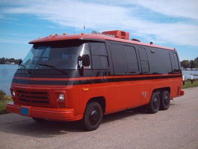 1977 Gmc Eleganza Ii In Red And Black Gmc Motorhome Campers