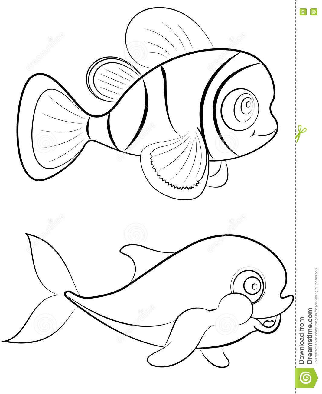Clown Fish Coloring Page Youngandtae Com In 2020 Fish Coloring Page Coloring Pages Clown Fish