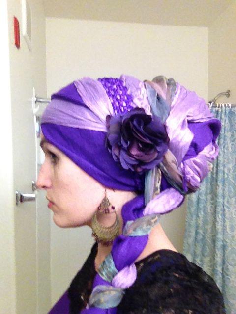 Wrapunzel! Purple pashmina, light purple 2 in 1, purple sash!