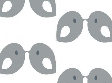 Behang Kinderkamer Vogeltjes : Behang met grote vogels tis lifestyle: the official website huis