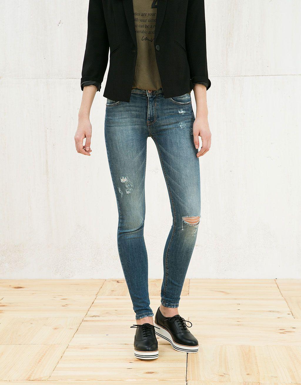 Jeans super skinny regular waist - Jeans - Bershka España