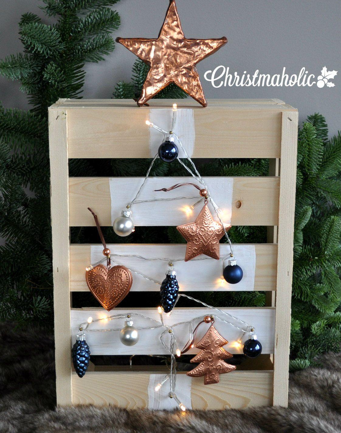 Houten kerstboom maken van een fruitkistje kerst knutselen kerstbomen en kerst - Een houten boom maken ...