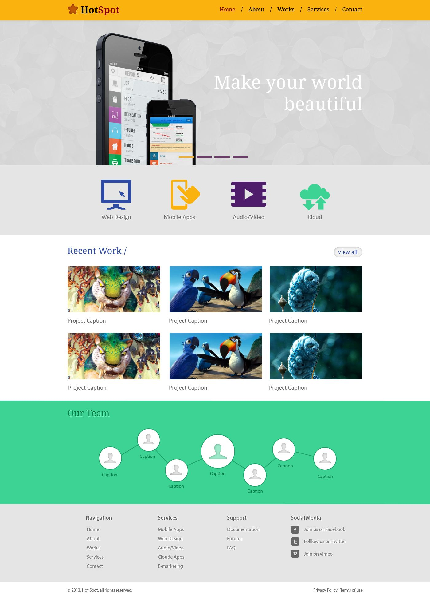 Free Clean Minimal Website Template PSD | Photoshop & Illustrator ...