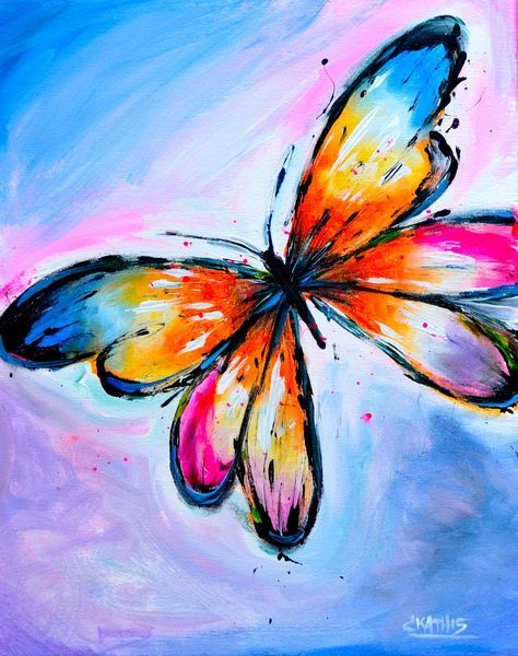 butterfly: Simple Butterfly Acrylic Painting