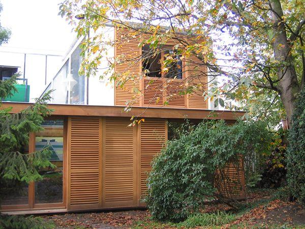 extension bois avec toit terrasse HOME Pinterest France, Ile