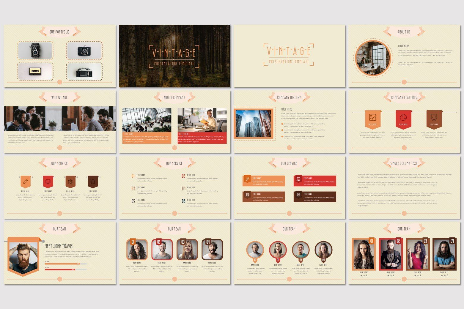 Vintage Powerpoint Template Powerpoint Templates Presentation Design Template Presentation Templates
