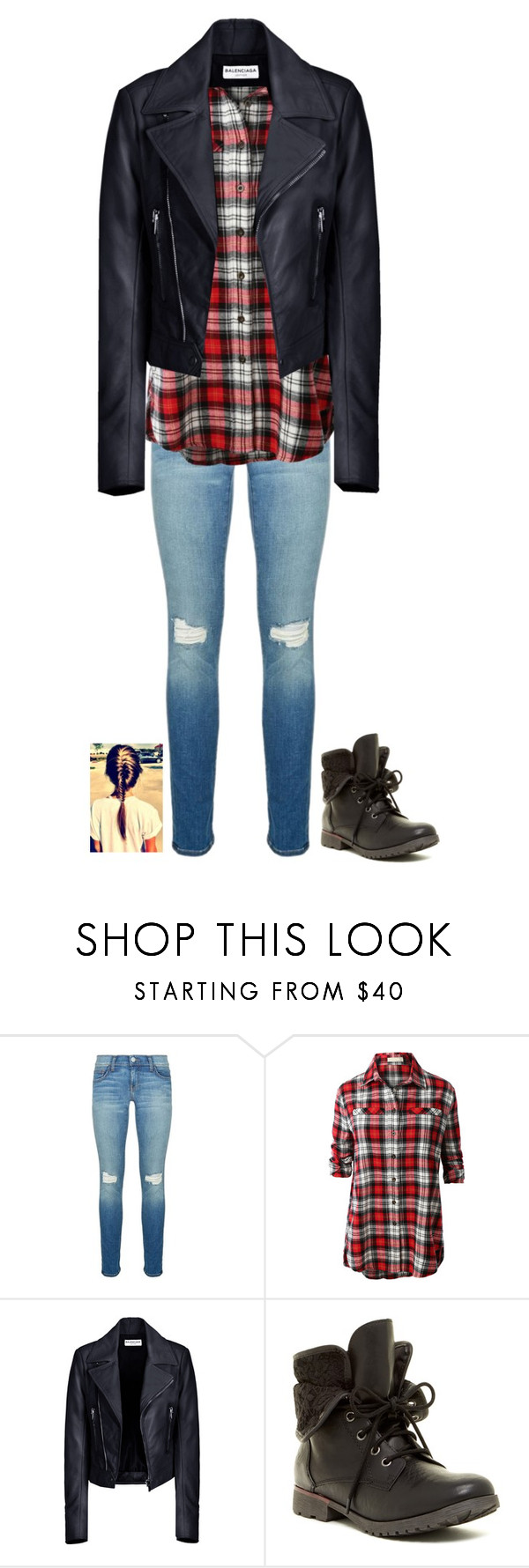 """""""Dress it up, or down"""" by neb1211 ❤ liked on Polyvore featuring Rebecca Minkoff, LE3NO, Balenciaga and Rock & Candy"""