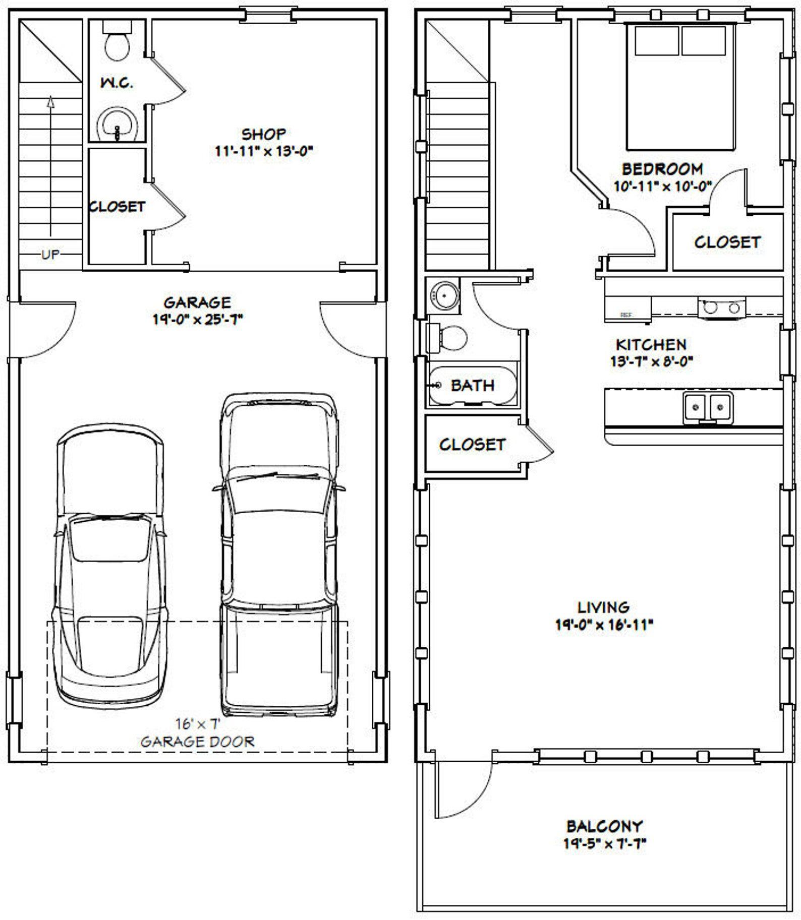 20x40 House 1Bedroom 1.5Bath 965 sq ft PDF