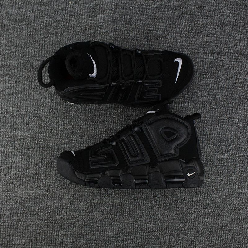 a0241a5e6d777 Legit Cheap Supreme x Nike Air More Uptempo Black Black-White 902290 ...