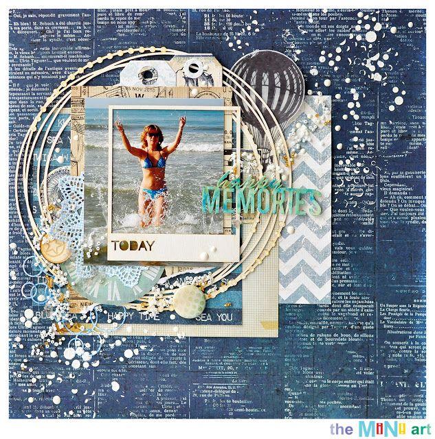 happy memories   The Mini Art DT @akonitt #layout #chipboard #by_marina_gridasova