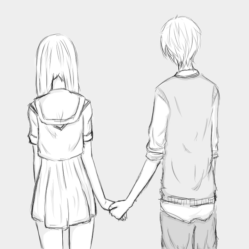 Pics for cute anime love couples easy to draw