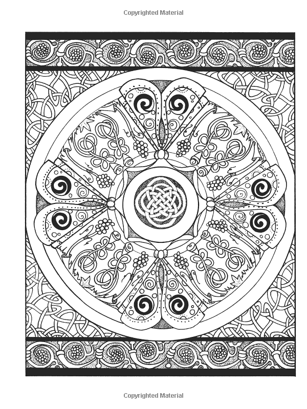 Creative Haven Celtic Designs Coloring Book Adult Carol Schmidt