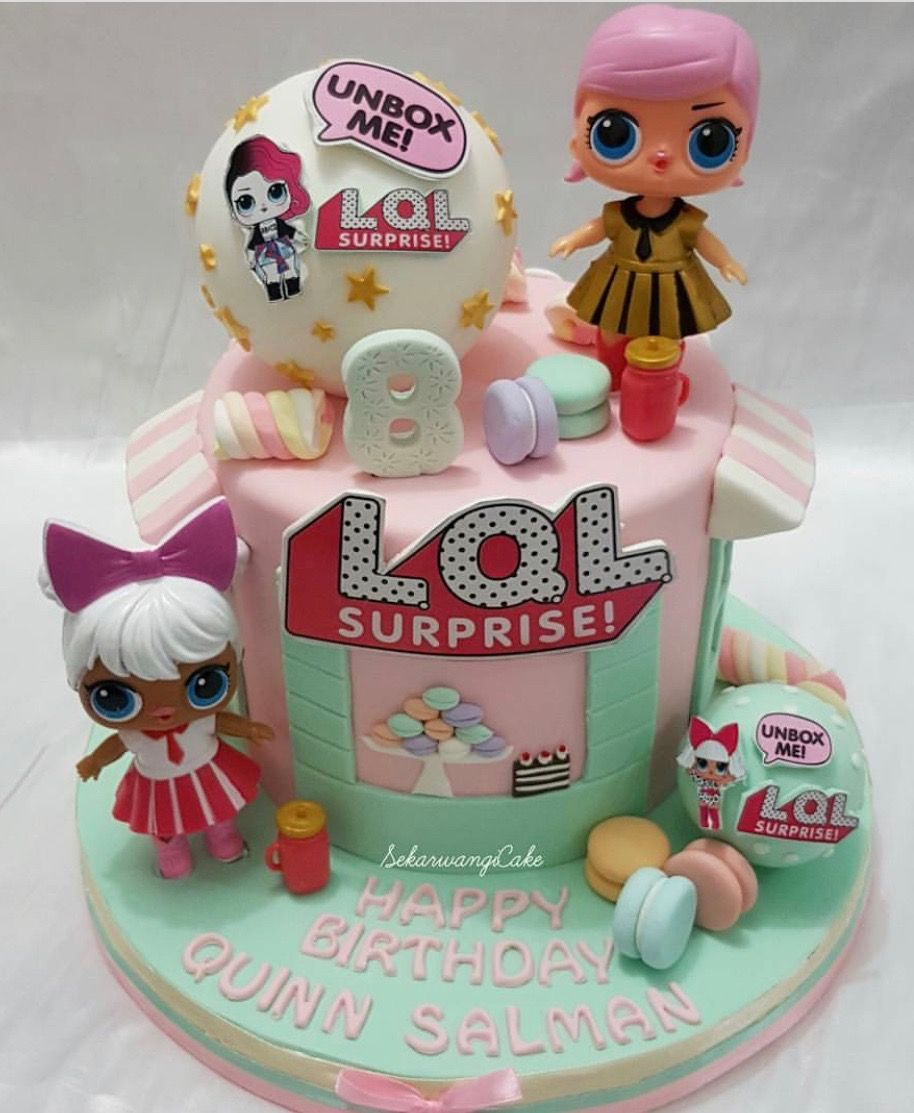 Lol surprise dolls birthday cake lol pinterest anniversaires gateau anniversaire et g teau - Gateau surprise anniversaire ...
