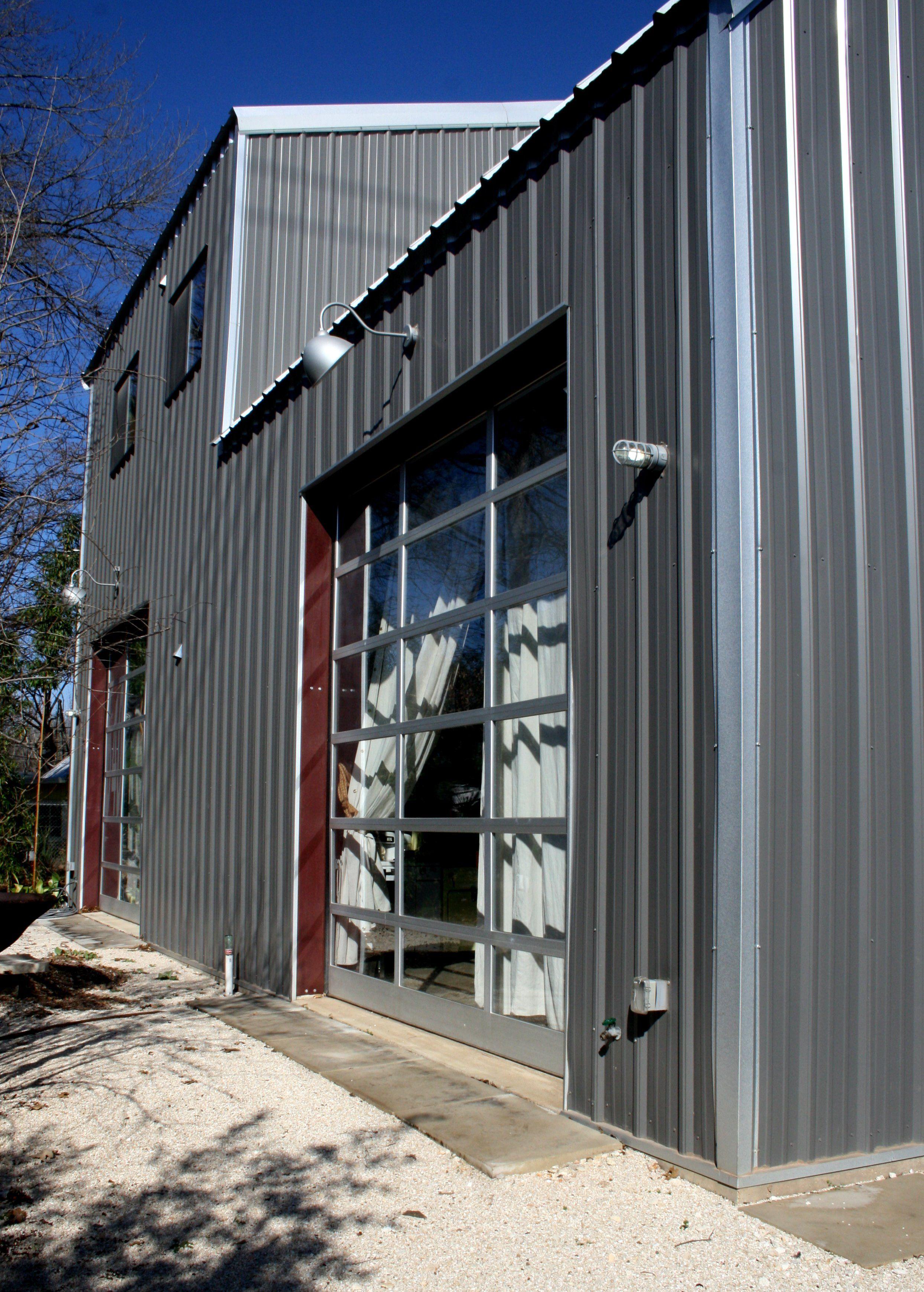 Rolling steel door on building - Glass Garage Doors Instead Of French Doors To Open Up To Deck Or Patio I Like It New Studio Pinterest Glass Garage Door Garage Doors And Decking