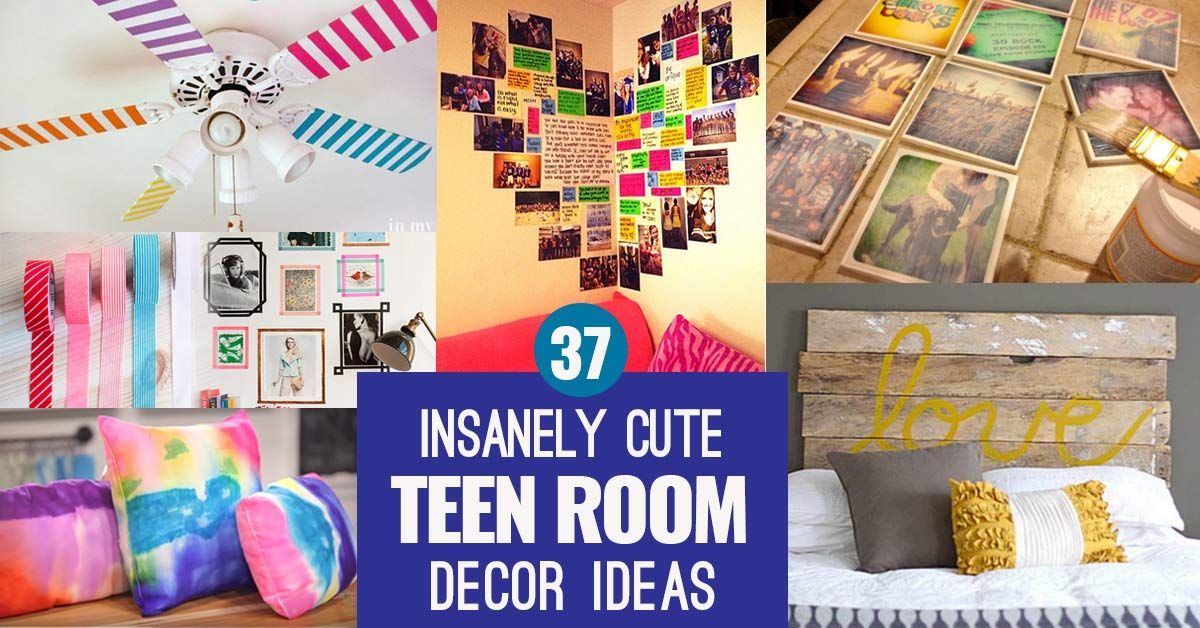 37 Insanely Cute Teen Bedroom Ideas for DIY Decor | Curtain ...
