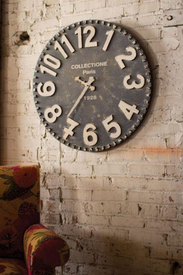 42 Beaux Modèles Horloges Murales Design White Wall Clocks Wall Clock Black And White Black Wall Clock