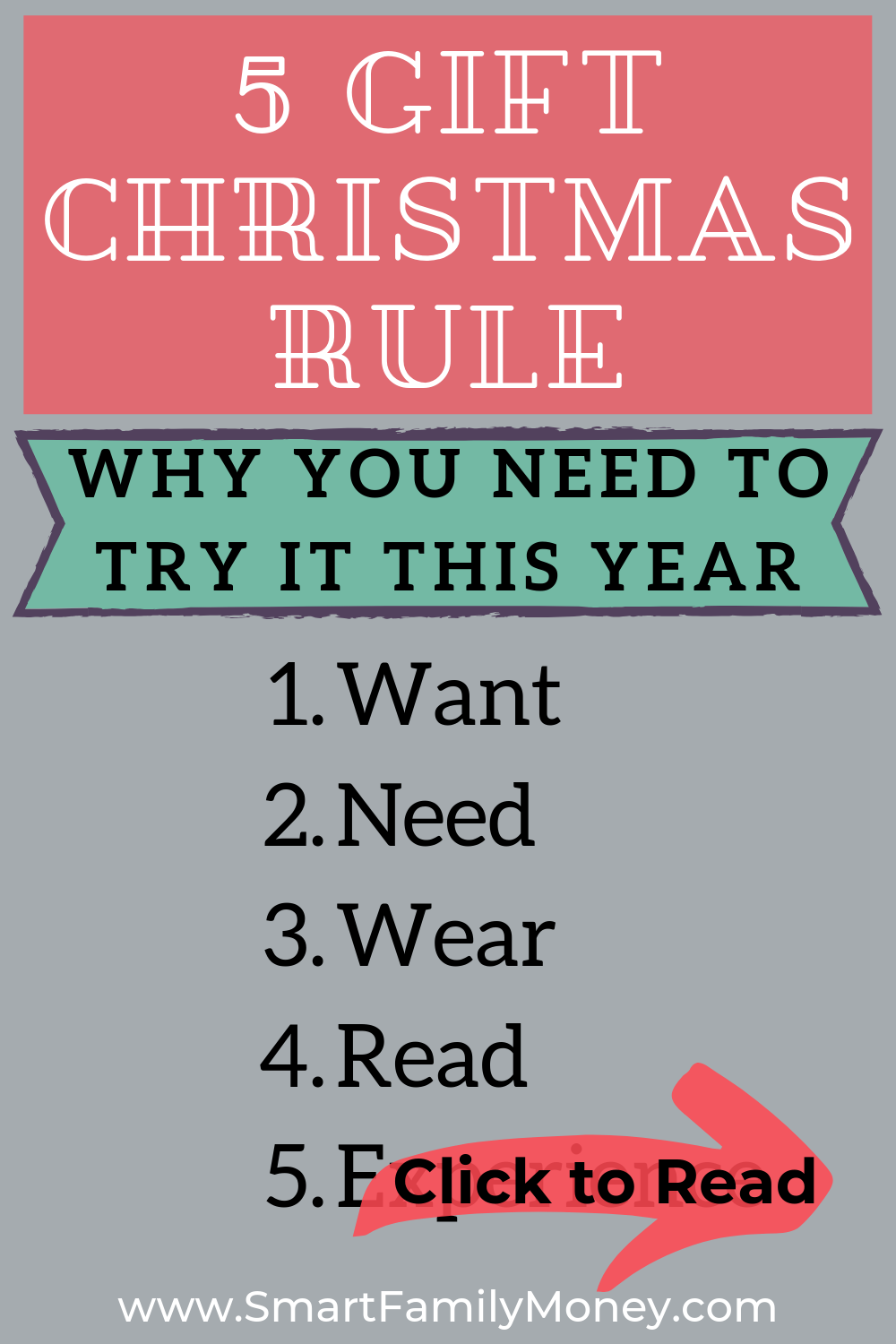 5 Gift Rule for Christmas Why You Need To Try It (With