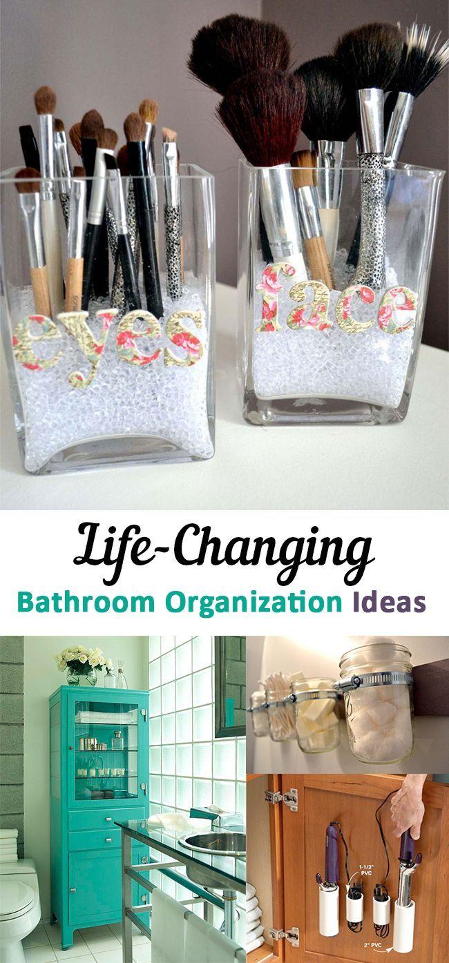 life changing bathroom organization ideas home organization ideas pinterest badezimmer. Black Bedroom Furniture Sets. Home Design Ideas