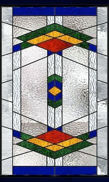 Geometric Southwest Stained Glass Window Stained Glass Quilt