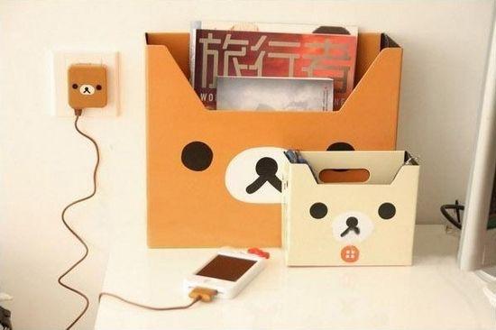 7 Polka Dots Rilakkuma Diy Folder Anime Crafts Kawaii Crafts Diy Stationery