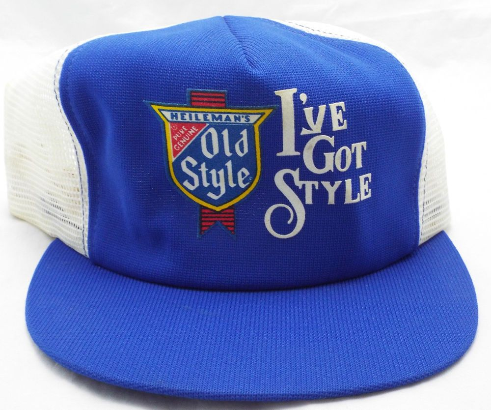 7ce2e8a3aaffc New vintage Heileman s OLD STYLE BEER snapback TRUCKER Mesh 1980s CAP HAT