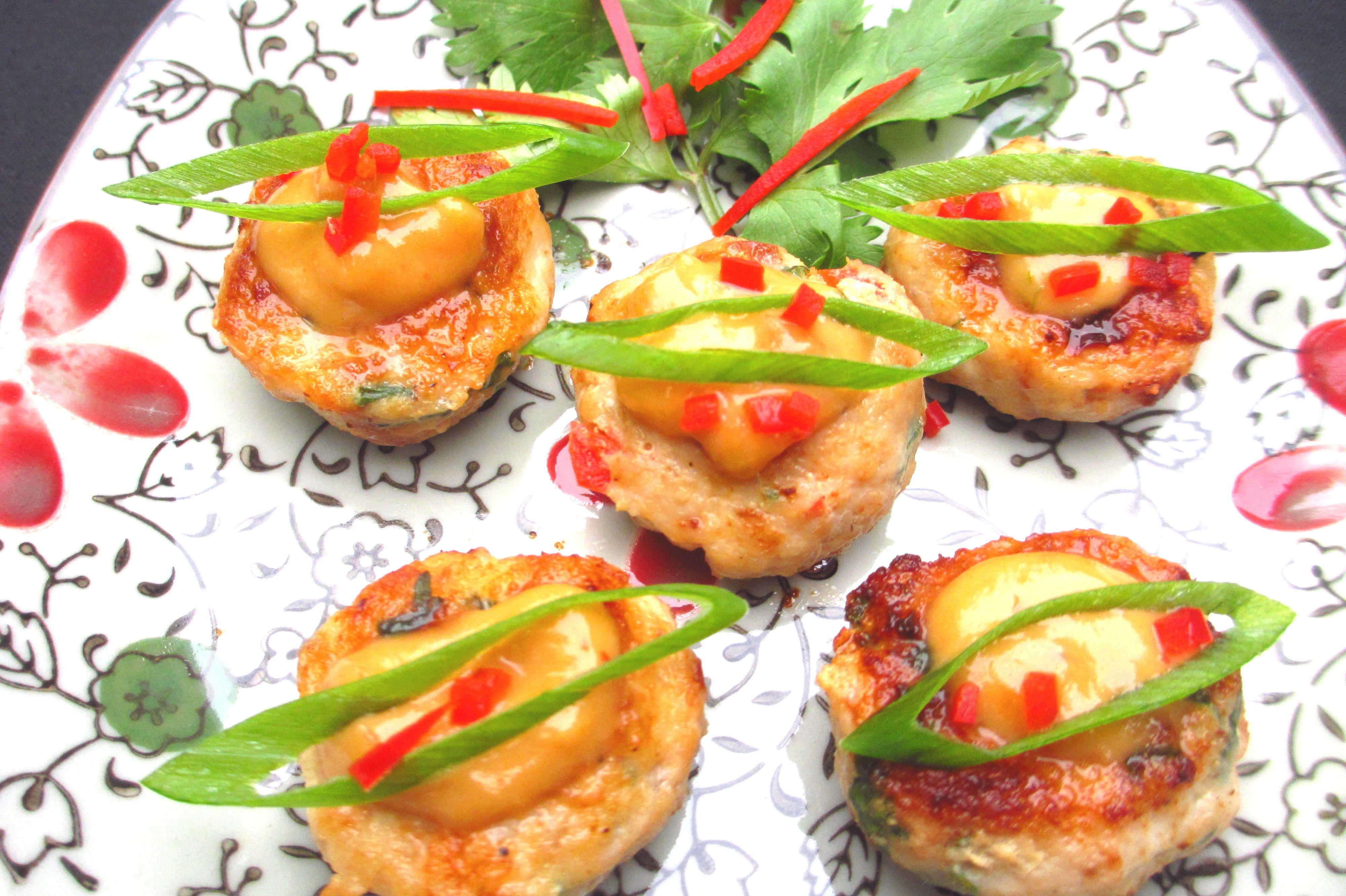 Thai Chicken & Peanut Mini Burgers