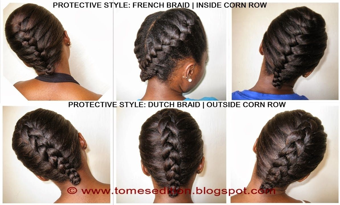 protected styles for relaxed hair | protective hairstyles