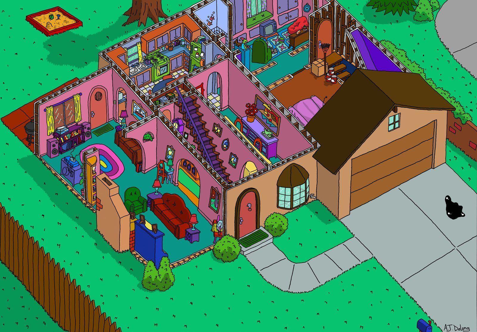 42 Plan Maison Simpson The Simpsons Lego Simpsons Living Room Clipart