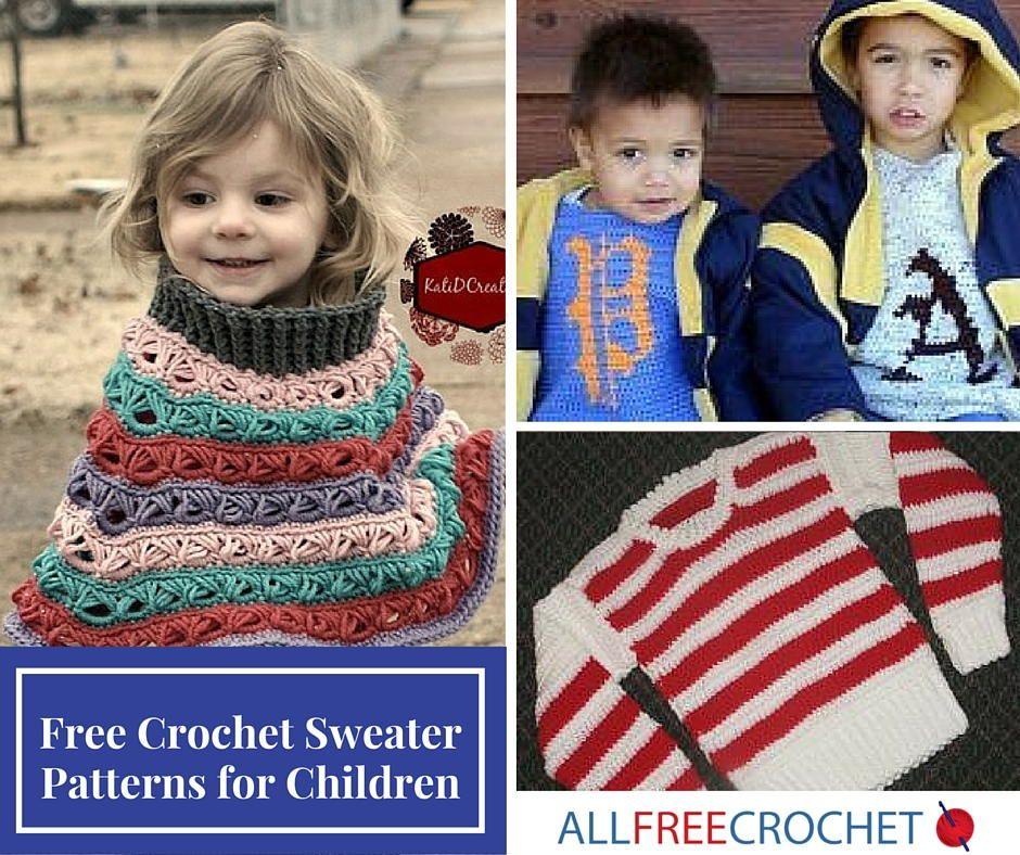 15 Free Crochet Sweater Patterns For Children Crochet Sweater