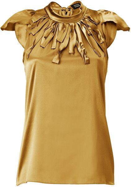 f0b958d65f1240 Women s Metallic Winter Gold Montauk Silk Top