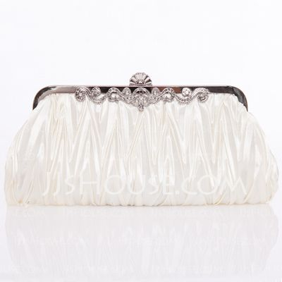 Handbags - $15.99 - Gorgeous Silk With Crystal/ Rhinestone Clutches/Shoulder Bags (012005434) http://jjshouse.com/Gorgeous-Silk-With-Crystal-Rhinestone-Clutches-Shoulder-Bags-012005434-g5434