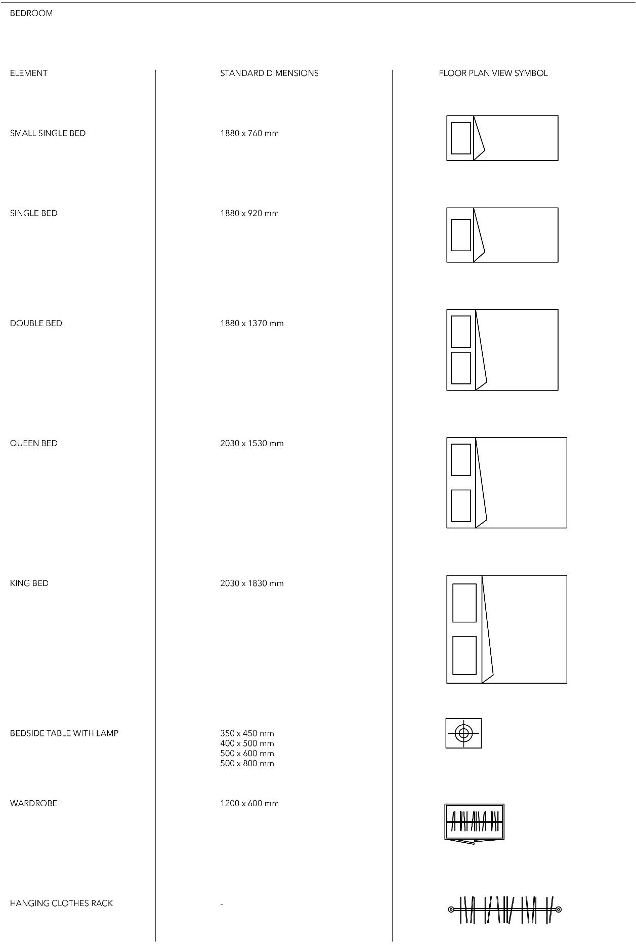 Floor Plan View Furniture Symbols